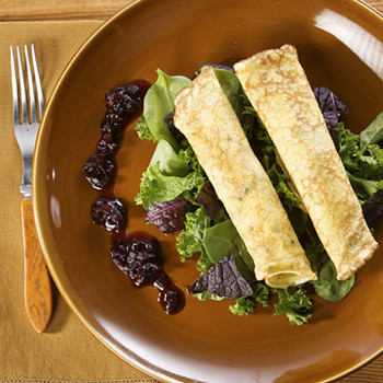 Herb Crepes with Wild Mushrooms