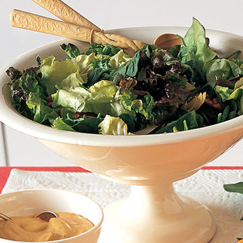 Mixed Green Salad with Date-Walnut Vinaigrette