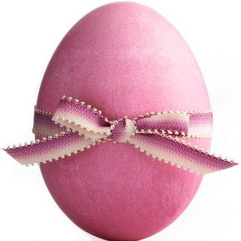 Ribbon-Embellished Eggs