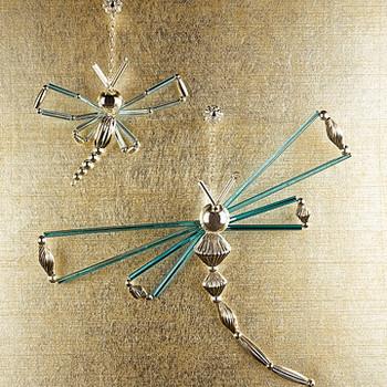 Golden Dragonfly Ornament