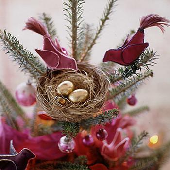 Fabric Bird Tree Topper