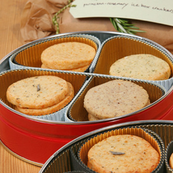 Parmesan-Rosemary Icebox Crackers