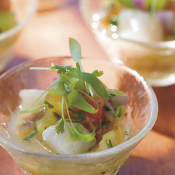 Bay Scallop and Tomato Ceviche with Key Lime