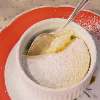 Lemon Pudding Surprise Cakes