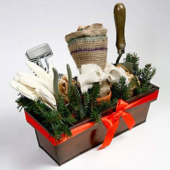 Burlap Leaf Bag and Garden Kit