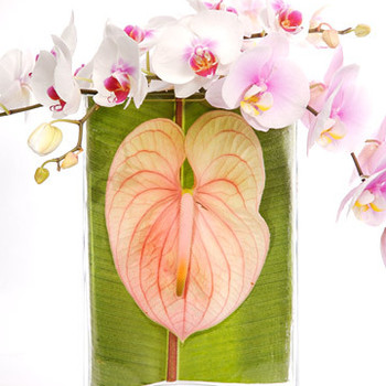 Leaf-Decorated Vase
