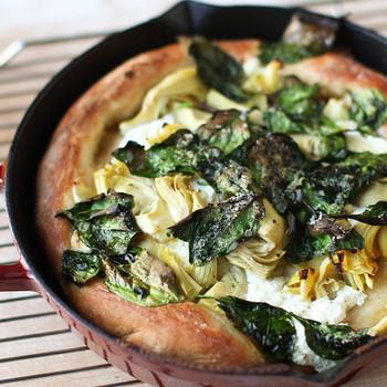 Artichoke & Spinach Skillet Pizza