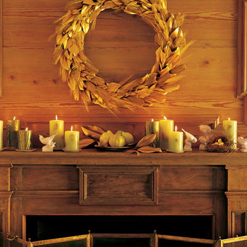 Golden Feather Candles