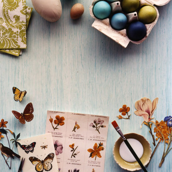 Decoupage Eggs, Revived