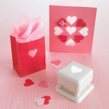 Heart and Dots Card and Treat Bag