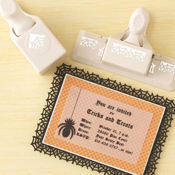 Spiderweb Halloween Invitation