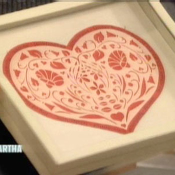 Papercut Hearts for Valentine's Day