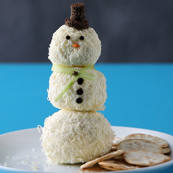 Cheese-Covered Snowman