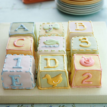 Alphabet Shower Decor and Favors