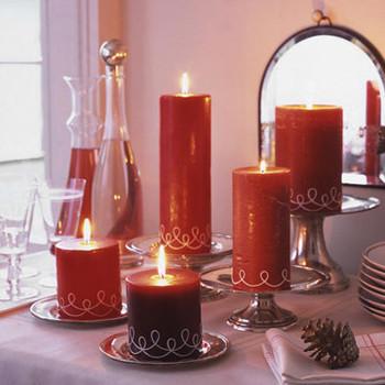 Swirled-String Candles