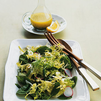 Frisee and Baby-Spinach Salad