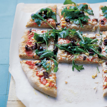 Whole-Wheat Greek Pizza