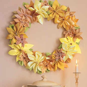 Ribbon-Poinsettia Wreath