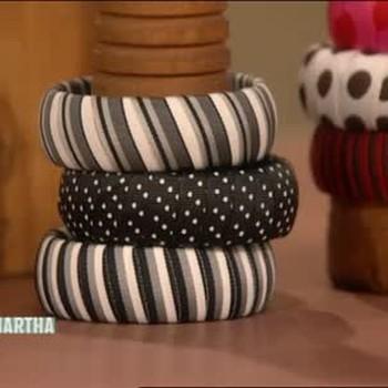 Yarn Bangle Bracelets