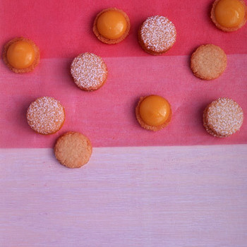 Coconut Cookies with Passion-Fruit Curd