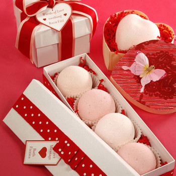 Bath Fizzies for Valentine's Day