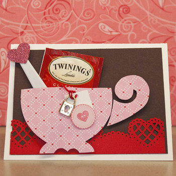 Teacup Valentine's Day Card