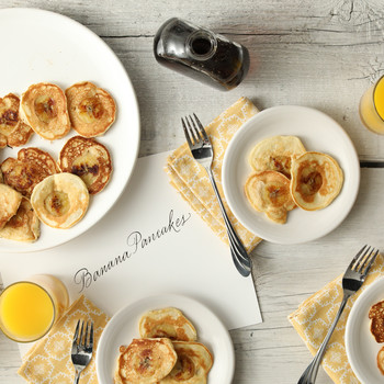 Banana-Filled Pancakes
