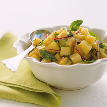 Spicy Pineapple-and-Mint Salsa