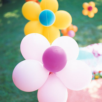 Flower Power Birthday Party or Baby Shower