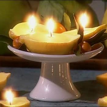 Homemade Lemon Candles