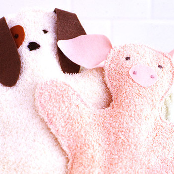 Washcloth Puppets