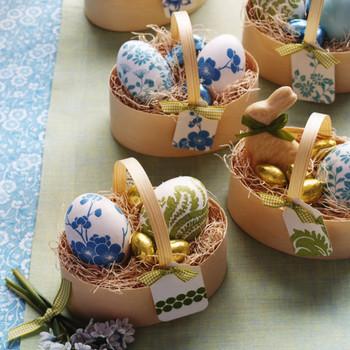 Floral-Motif Eggs