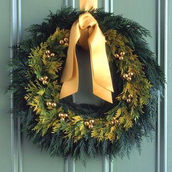 Golden-Cedar Wreath