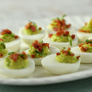 Deviled Eggs with Peas and Ham Video