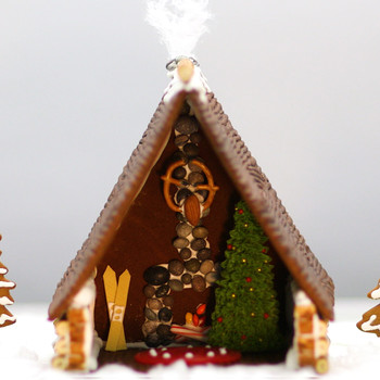 How to Build a Gingerbread Cabin