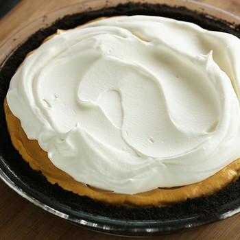 Iced Pumpkin Mousse Pie