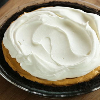 Iced Pumpkin Mousse Pie
