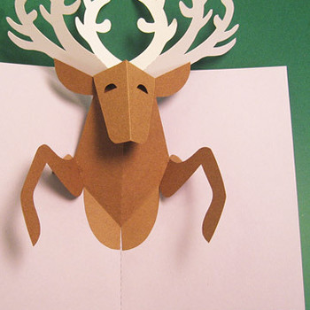 Reindeer Pop-Up Card