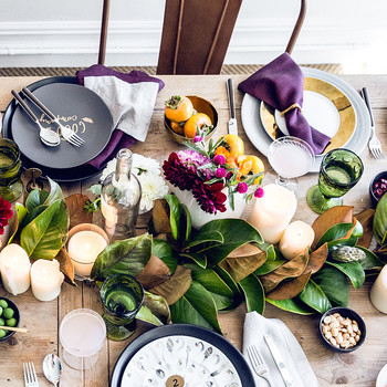 A Stunningly Simple Fall Tablescape Idea