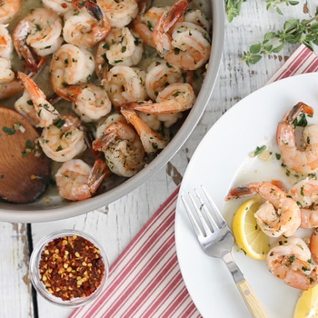 Sautéed Shrimp with Garlic
