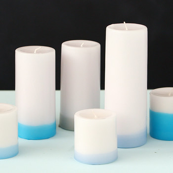 Dip-Dyed Pillar Candles