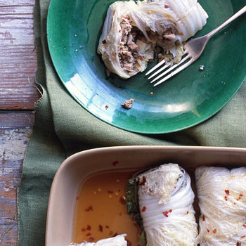 Asian Stuffed Cabbage