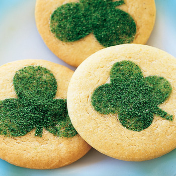 Clover-Stenciled Cookies