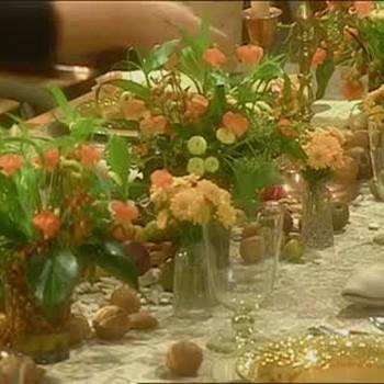 Cornucopia Table Setting