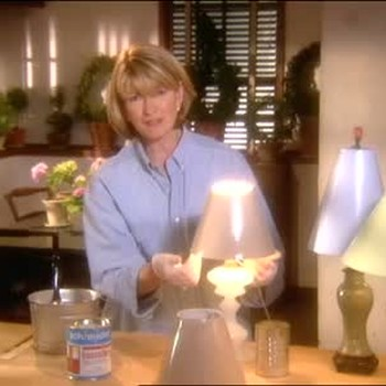 How to Paint a Lampshade