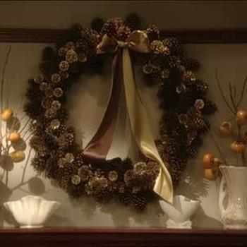 Making Pine Cone Wreaths