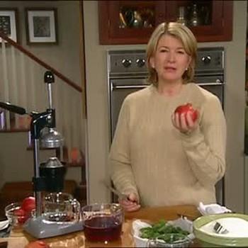 Making Pomegranate Punch