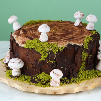 Watch: Woodland Stump Cake