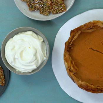Watch: 5-Spice Pumpkin Pie with Phyllo Crust