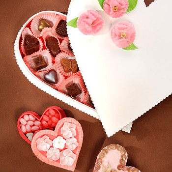 Embellished Heart Candy Box